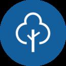 Blue Tree Icon